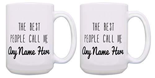 Teacher Mug Set Call Me Custom Name Cups 2 Pack Personalized Gift 15-oz Coffee Mugs Tea Cups White