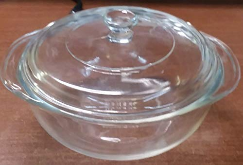 Pyrex Model 022 Clear One Quart Casserole Dish with Lid