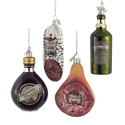 35 Noble Gems Glass Italian Food Ornament Set Of 4 Assorted