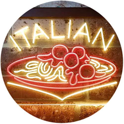 ADVPRO Italian Food Area Spaghetti Pasta Dual Color LED Neon Sign Red Yellow 12 x 85 st6s32-i3340-ry