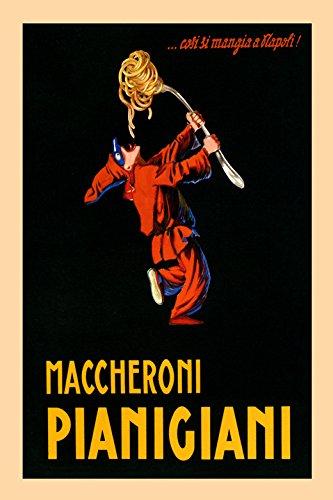 Pierrot Spaghetti Pasta Macaroni Pianigiani Italy Italia Italian Food Vintage Poster Repro 12 X 16 Image Size We Have Other