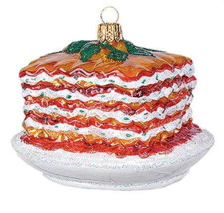 Ricotta Cheese Lasagna Italian Italy Food Polish Glass Christmas Tree Ornament Travel Souvenir