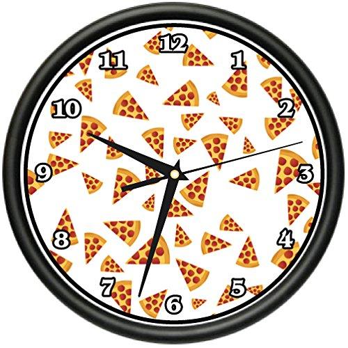 SignMission Pizza Slice Wall Clock Kitchen Decor Italian Food Gift Beagle