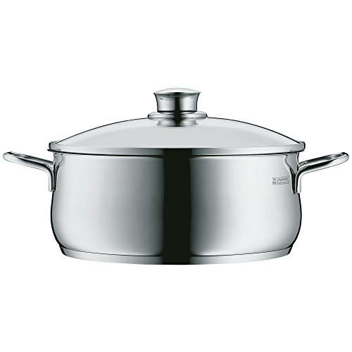WMF Diadem Plus Low Casserole with Lid 1810 Stainless Steel 24 cm