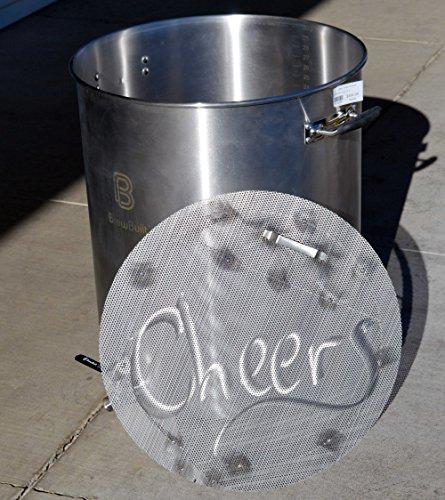 BrewBuilt BE354 15 Gallon Beer Brewing Kettle with Jaybird False Bottom BUNDLE DEAL