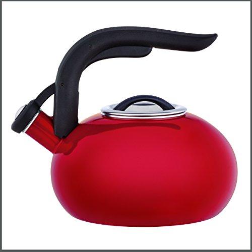Copco 5216831 Arc Enamle On Steel Tea Kettle 18-Quart Red