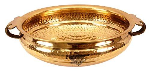 IndianArtVilla 40 X 120 Brass Urli Water Pot Container 5350 ML - Home Office Hotel Restaurant Decoration Gift Item