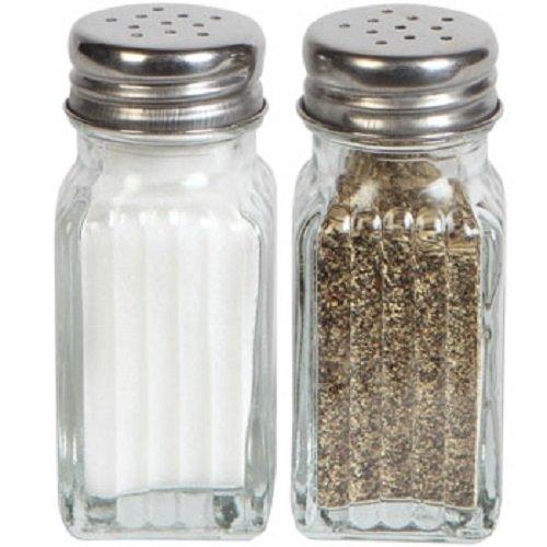 1 X Gl Salt Pepper Shaker Set