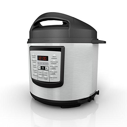 BLACKDECKER 6 quart 11-in-1 Cooking Pot Stainless Steel Pressure Cooker Slow Cooker Multi-Cooker PR100