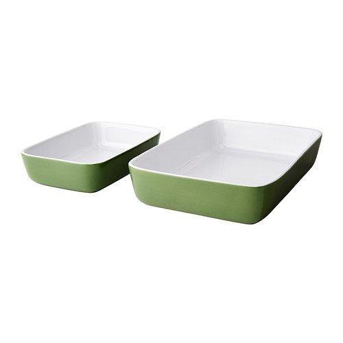 IKEA LYCKAD - Ovenserving dish set of 2 green