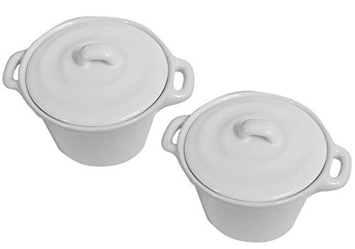 Mini Ceramic Casserole BakingServing Dishes Set of Four