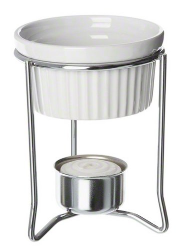 American Metalcraft BWR34 2 oz Ceramic Ramekin Butter Warmer