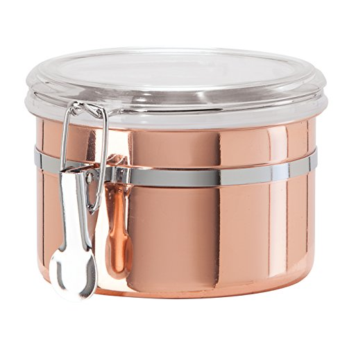 Oggi 530012 Copper Plated Stainless Steel Airtight Canister with Clamp 26 Ounce