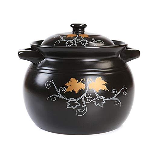 Casserole Pan With Lid Cooking Pot Smokeless Pot High Temperature Resistance 25L Diameter 175cmx Height 132cm
