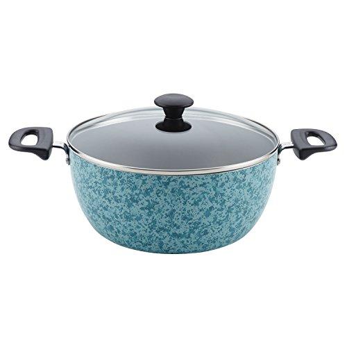 Farberware 20411 Aluminum Nonstick Casserole DishCasserole Pan with Lid - 55 Quart Blue