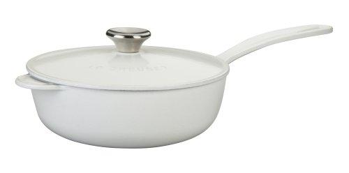 Le Creuset Enameled Cast-Iron 2-14-Quart Saucier Pan White