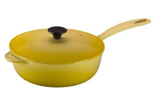 Le Creuset Enameled Cast-Iron 3-Quart Saucier Pan Soleil