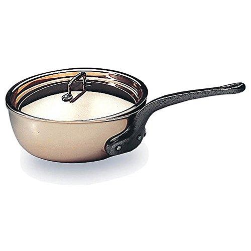 Matfer Bourgeat Saucier Pan With Lid 95 Copper 373124