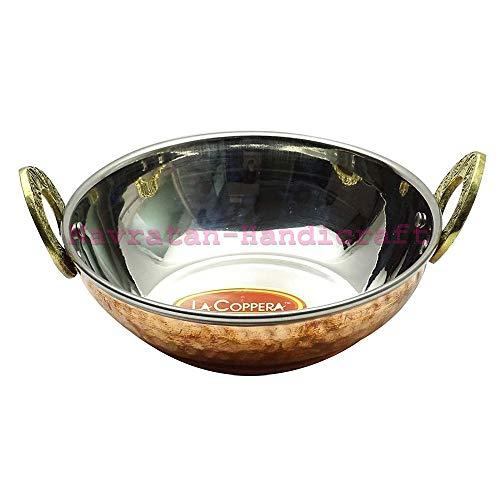 Traditional Indian Kadhai Tableware Copper Kitchenware Utensil Serveware