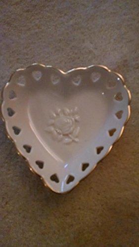 Lenox Rose Heart Shape Porcelain Dish