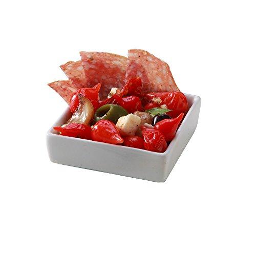 Mini Square Porcelain Dish 264 inches 10 count box