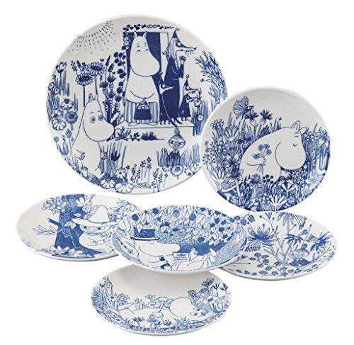 Moomin Valley Botanical Art Porcelain Dish Plate Set of 6 Yamaka MM170-52