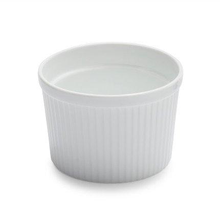 Sur La Table Porcelain Round Souffle Dish with Ribbed Sides HB4619  8 oz