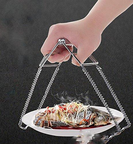 Stainless steel steamer take tray clip Home kitchen plate clip non-slip anti-hot clip casserole bowl clip