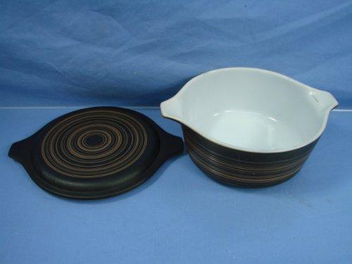 Vintage1964 Pyrex 472 Terra Pattern 112 Qt Casserole Bowl W Lid Brown