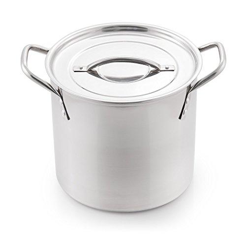 McSunley 606 Medium Stainless Steel Prep N Cook Stockpot 8 quart Metallic