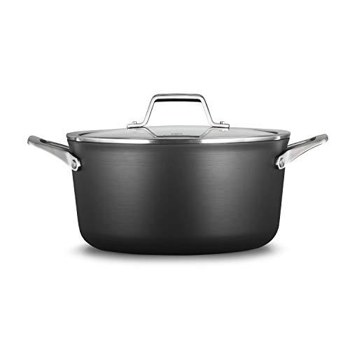 Calphalon 2029623 Premier Hard-Anodized Nonstick 6-Quart Stock Pot with Cover Black