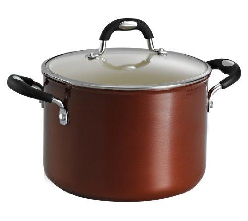 Tramontina 80110051DS Style Ceramica 01 Covered Stock Pot 6-Quart Metallic Copper