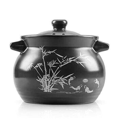 GMING Ceramic Pot -Casserole Stockpot - Heat-resistant Soup Porridge Porridge Rice Health Soup Pot Big Belly Long-lasting Insulation 35L