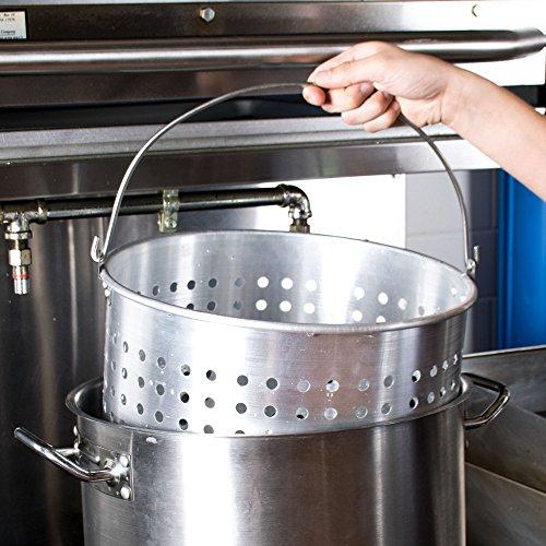 40 Qt Aluminum Stock Pot Steamer Basket