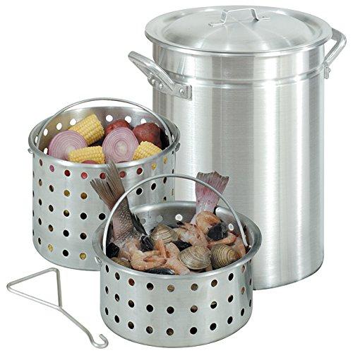 Bayou Classic 42-quart Great Lakes Boiler Stock Pot and Steamer Basket