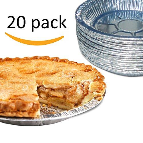 Premium 9 Aluminum Foil Pie Pans Disposable Tin Plates for Pies Tart Quiche Pack of 20