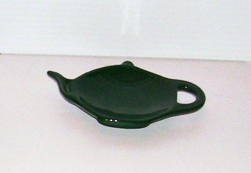 Green Teapot Shaped Tea Bag Holder Tea Caddy