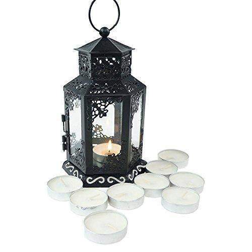 Tandi Glass Metal Candle Holder Lantern  Mini Black