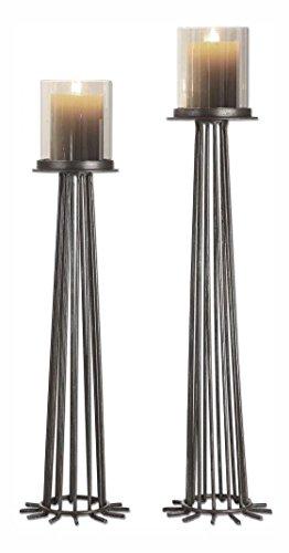 Uttermost Bardo Aged Iron Candleholders S2