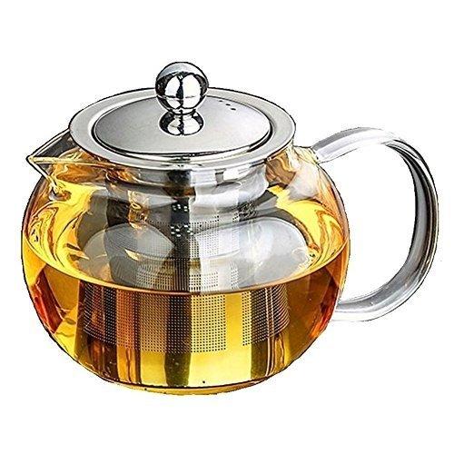 Vertex style VERTEX STYLE clear glass teapot round 550ml