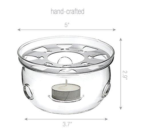 TEAlice Ultra Clear Glass Teapot Warmer
