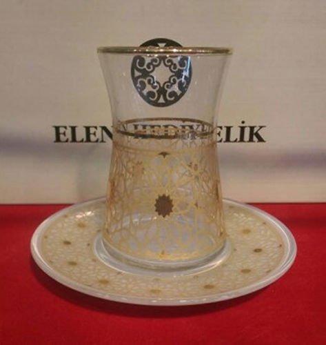6 pieces turkish tea glasses tea set no 70