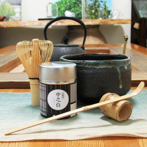 Japanese Matcha Green Tea Service Set  inclu Tea Bowl Matcha Green Tea Powder Tea Service Spoon and Tea Whisker Japan Import