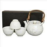 Japanese 5 Piece Tea Pot and Cup Tea Set White Sakura by Eden
