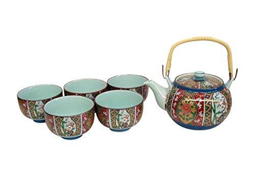 KamaKama Japanese Tea setTea pot x1pcsCup x5pcs PorcelainSizecm 165x125x10  Diameter 9x55ka049243