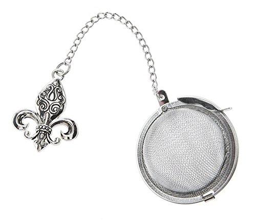 Fleur-de-lis Charm Tea Infuser Ball - By Ganz