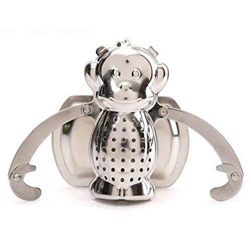 Home-organizer Tech Tea Filter Monkey Shape Tea Infuser Ball Strainer for Loose Leaf Tea