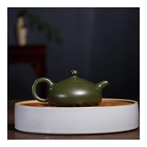 Teapot Zisha pot raw ore green mud and half moon teapot TV Chinese Tea Pot Color  Green