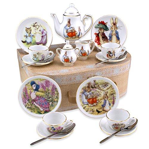Beatrix Potter Tea Set Peter Rabbit Friends By Reutter Porcelain - Medium