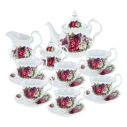 Floral Gala Porcelain Tea Set